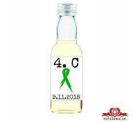 Maturitná fľaštička s alkohol - zelená stužka - 09