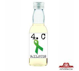 Maturitná fľaštička s alkohol - zelená stužka - 08