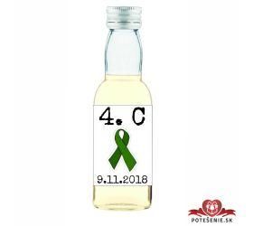 Maturitná fľaštička s alkohol - zelená stužka - 07