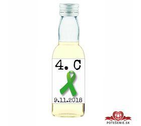 Maturitná fľaštička s alkohol - zelená stužka - 06