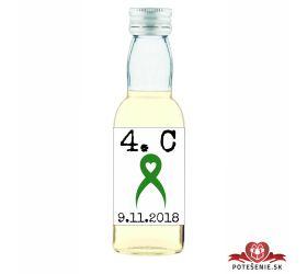 Maturitná fľaštička s alkohol - zelená stužka - 04