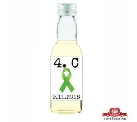 Maturitná fľaštička s alkohol - zelená stužka - 03