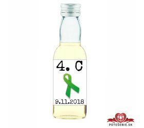 Maturitná fľaštička s alkohol - zelená stužka - 01