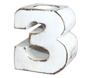 Drevené Vintage Číslo - No.3