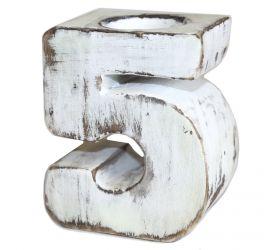Drevené Vintage Číslo - No.5