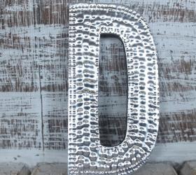 4x Hlinníkové Dekoračné Písmená - D