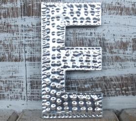 4x Hlinníkové Dekoračné Písmená - E