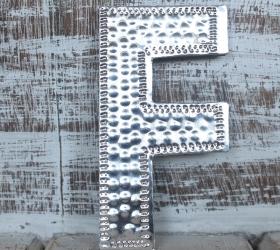 4x Hlinníkové Dekoračné Písmená - F