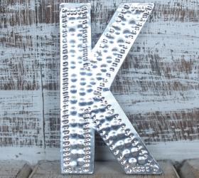 4x Hlinníkové Dekoračné Písmená - K