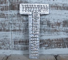 4x Hlinníkové Dekoračné Písmená - T