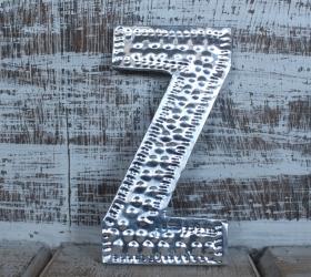 4x Hlinníkové Dekoračné Písmená - Z