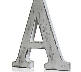 4x Elegantné Písmeno - A