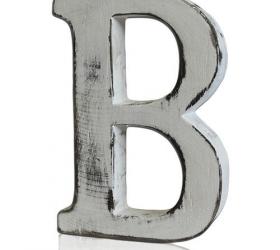 4x Elegantné Písmeno - B