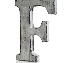 4x Elegantné Písmeno - F