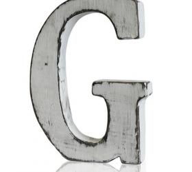 4x Elegantné Písmeno - G