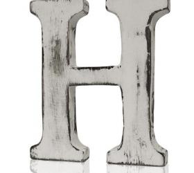 4x Elegantné Písmeno - H