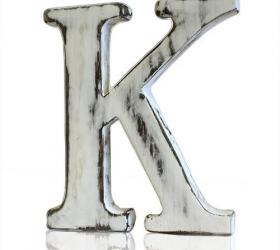 4x Elegantné Písmeno - K