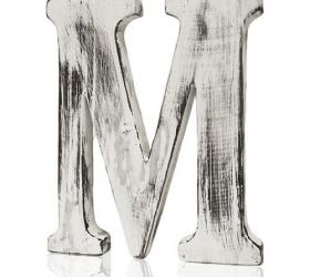 4x Elegantné Písmeno - M