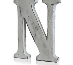 4x Elegantné Písmeno - N