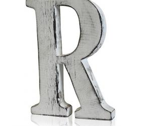 4x Elegantné Písmeno - R