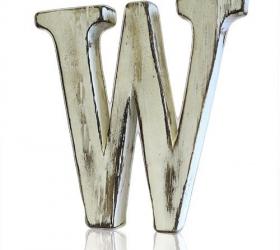 4x Elegantné Písmeno - W