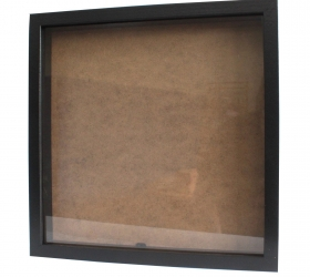 12x Hlboký Rám - Štvorec 34 x 34cm Čierny - Akcia