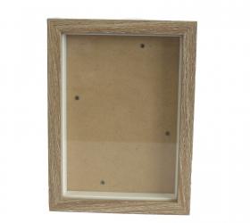 Hlboký Rám - Hnedá Patina - 13x18cm