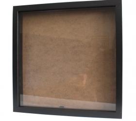 Hlboký Rám - Štvorec 34 x 34cm Čierny