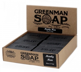 12x Greenman Mydlo 100g - Mužný Muž