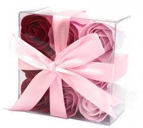 Sada 9 Mydlových Kvetov - Ružové Ruže