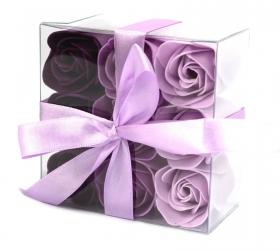 Sada 9 Mydlových Kvetov - Levanduľové Ruže