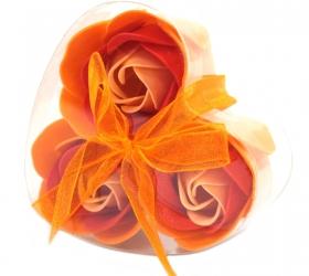 Sada 3 Mydlových Kvetov - Broskyňová Ruža