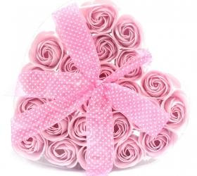Sada 24 Mydlových Kvetov - Ružová Ruža