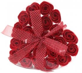 Mydlové Kvety 24 ks - Červená Ruža