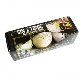 Sada 3 Šumivých Bômb do Kúpeľa - Gin & Tonik