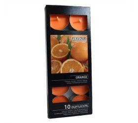 15x Vonné Čajové Sviečky - Pomaranč 10ks v balení