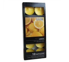 15x Vonné Čajové Sviečky - Citrón 10ks v balení
