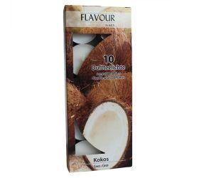 15x Vonné Čajové Sviečky - Kokos 10ks v balení