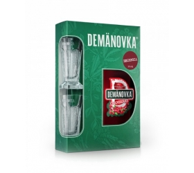 Darčekové balenie Demänovka Brusnica + 2 poháre 0,7l (30%)