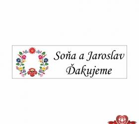 Svadobné žuvačky pre potešenie svadobných hostí SZ102