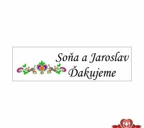 Svadobné žuvačky pre potešenie svadobných hostí SZ106