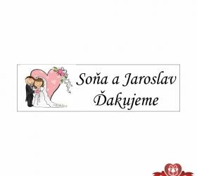 Foto  Svadobné žuvačky pre potešenie svadobných hostí SZ109