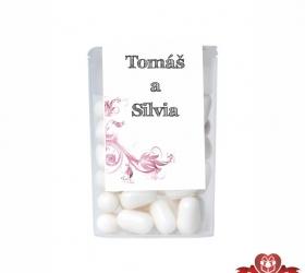 Dražé cukríky pre svadobných hostí, motív S130