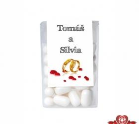 Dražé cukríky pre svadobných hostí, motív S204