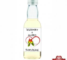 Svadobná fľaštička s alkoholom 40 ml SF109