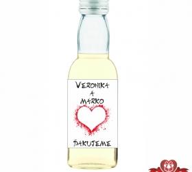 Svadobná fľaštička s alkoholom SF110