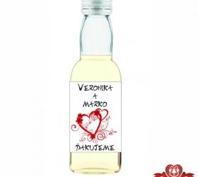 Svadobná fľaštička s alkoholom SF111