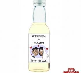 Svadobná fľaštička s alkoholom SF115