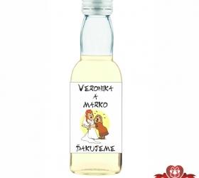 Svadobná fľaštička s alkoholom SF116