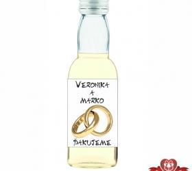Svadobná mini fľaštička s alkoholom, motív S161